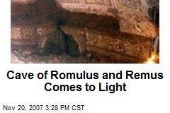 Cave of Romulus and Remus Comes to Light