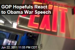 Republican 2012 Hopefuls React to Obama's Afghanistan Speech