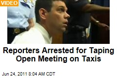 Reporters Pete Tucker and Jim Epstein Arrested for Taping Open Meeting About Washington, DC Taxis