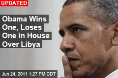 House Rebukes Obama Over Libya