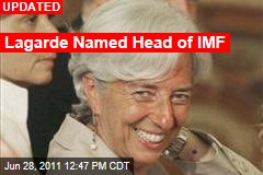 US Backs Christine LaGarde to Head IMF