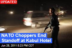 NATO Choppers End Standoff at Inter-Continental Hotel in Kabul; 7 Dead