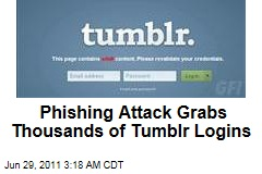 Tumblr Phishing Attack Grabs Thousands of Logins