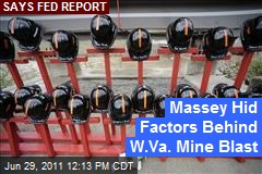 Massey Hid Factors Behind W.Va. Mine Blast