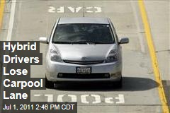 Solo Hybrid Drivers Lose Car-Pool Lane Privileges