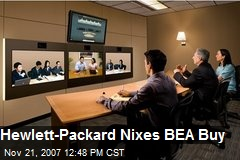 Hewlett-Packard Nixes BEA Buy