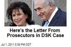 Here is the Letter Written by Prosecutors in the Dominique Strauss-Kahn Case