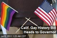 Calif. Gay History Bill Heads to Guv's Desk