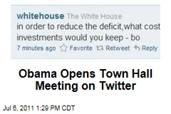Twitter Town Hall: President Obama Fields Questions on Social Networking Site