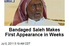 Bandaged Yemen President Ali Abdullah Saleh Makes First Appearance in Weeks