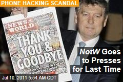 News of the World Closes: News Corp's Tabloid Hits the Presses a Last Time