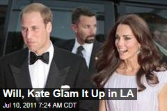 Prince William, Catherine Glam It Up in LA