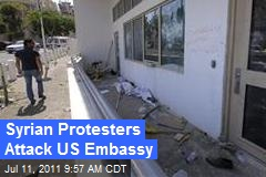 Syrian Protesters Attack US Embassy