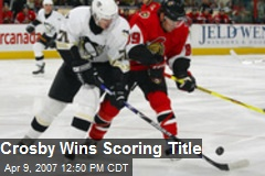 Crosby Wins Scoring Title