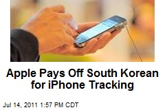 Apple Pays Off South Korean for iPhone Tracking
