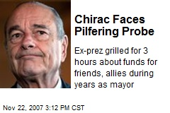 Chirac Faces Pilfering Probe