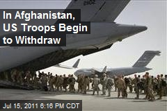 In Aftghanistan, US Troops Begin to Withdraw