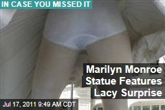Chicago Marilyn Monroe Sculpture Unveiled: Michigan Ave. Plaza Statue Clearly Shows Lacy Underwear