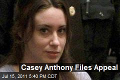 Casey Anthony Files Appeal