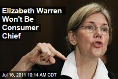 Elizabeth Warren Won't Be Picked to Lead Consumer Protection Watchdog Group