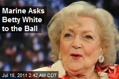 Marine Asks Betty White to the Ball