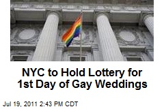 NYC to Hold Lottery for 1st Day of Gay Weddings
