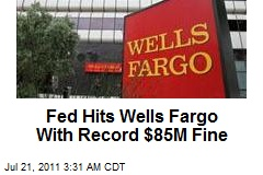 Fed hits Wells Fargo with $85 million fine