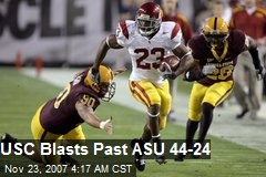 USC Blasts Past ASU 44-24