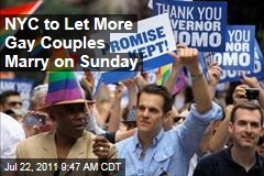 New York City: Every Lottery Participant Can Marry Sunday, When Same-Sex Marriage Becomes Legal
