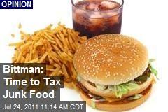 Bittman: Time to Tax Junk Food