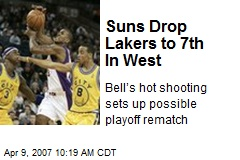 Suns Drop Lakers to 7th In West