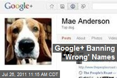 Google+ Banning 'Wrong' Names