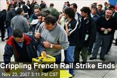 Crippling French Rail Strike Ends