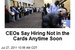 CEOs Say Hiring Not in the Cards Anytime Soon