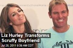 Elizabeth Hurley Transforms 'Scruffy' Boyfriend Shane Warne Into 'Ken Doll'