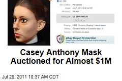 Casey Anthony Mask Auctioned for Almost $1M on eBay
