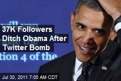 Obama Loses 37K Followers in Twitter Bombs