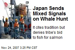 Japan Sends Mixed Signals on Whale Hunt