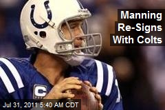 Manning Re-Signs With Colts