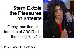 Stern Extols the Pleasures of Satellite