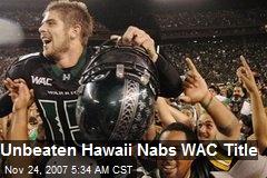 Unbeaten Hawaii Nabs WAC Title
