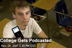 College Gets Podcasted
