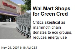 Wal-Mart Shops for Green Cred