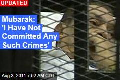 Hosni Mubarak Trial Opens in Cairo