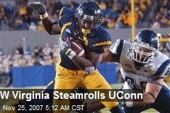 W Virginia Steamrolls UConn