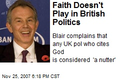 Faith Doesn't Play in British Politics