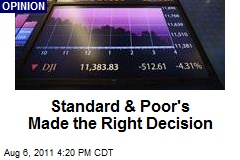 Standard & Poor's Made the Right Decision