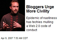 Bloggers Urge More Civility