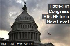 Hatred of Congress Hits Historic New Level