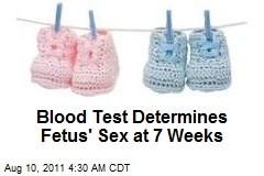 Blood Test Determines Fetus' Sex at 7 Weeks